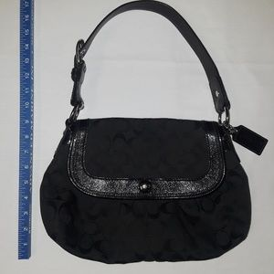 EUC Black Coach shoulder bag